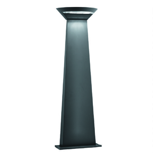 Outdoor Led Semi-Cricle Post 800Mm Height - Dark Grey 5122-800Gy